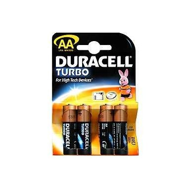 "Батарейки LR 6-4  TURBO ""DURACELL"" 4шт."